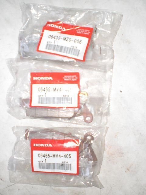 Brake pads, f+r, complete, new, original