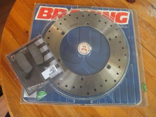 brake disk, round inkl.sintered pads für rear wheel