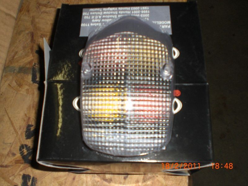 white Taillight with red bulb, new