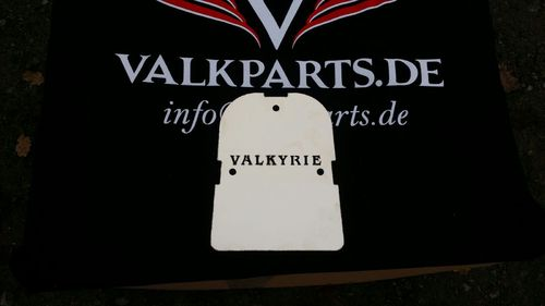 "stainless steel  Backrest Plate ""Valkyrie"""