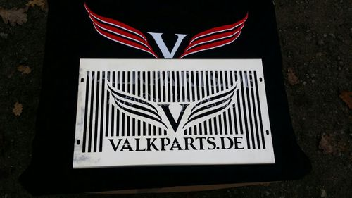 "radiotor cover ""Valkparts with Logo"""