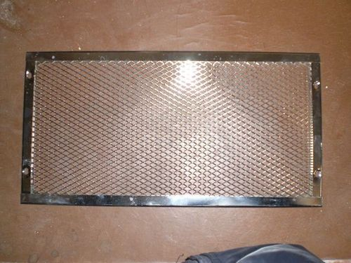 Chrome grill for radiator