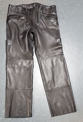 Leather guild trousers Craftsman smooth leather